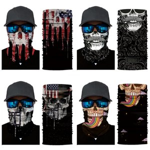 Wholesale-WEST BIKING Warm Winter Cycling Face Mask Windproof Multifunction Face Protection Magic Skull Scarf Headgear Cap Thermal Bicycl#747