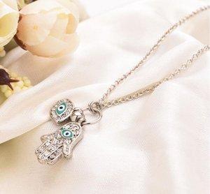 2019 синий сглаза Хамса Фатима пальмовое ожерелье повезло турецкая Каббала рука подвески для женщин ожерелья лучший друг подарок Оптовая
