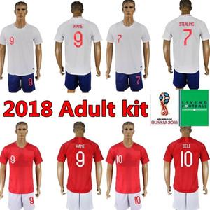 2018 طقم انجلترا للكبار لكرة القدم بالقميص روني STERLING VARDY KANE DELE KIT SHORTS SOCKS JERSEY ملابس داخلية لكرة القدم