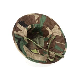 Entrenamiento Militar Cap Pescador táctica Boonie sombrero de Sun del ejército protector sombrero al aire libre Deportes camuflaje Pesca Senderismo Caza Cap voleibol