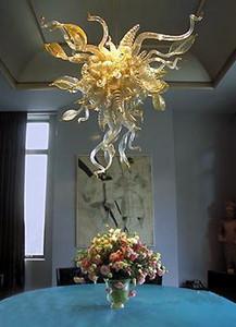 Otel Büyük Fransız Vintage Antik Stil Mükemmel Kalite% 100 Ağız Borosilikat Murano Cam Modern Kristal Avize Işık Üflemeli