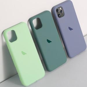 Оригинальный официальный Жидкое силиконовый чехол для IPhone 11 7 8 X 6 S 6S Plus чехол для iPhone XR XS 11 MAX Мягкая обложка Pro с логотипом