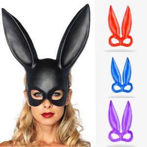 Moda Katı Seksi Yarım Yüz Tavşan Kulak Bar Parti Kostüm Cosplay için Bunny Kulak Maske