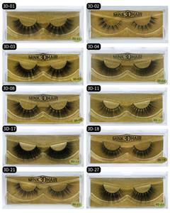 New Brand HUAPAN 3D Mink Eyelashes Eyelashes Eye Lash Extension Sexy Eyelash Full Strip Eye Lashes Gold Package