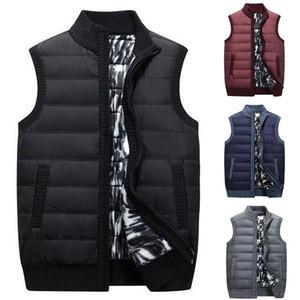 HEFLASHOR Осень Зима Vest Men Casual рукавов трикотажные свитера пальто Плюс Размер Zipper Карманы Трикотаж Chalecos Para Hombre