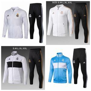 2019 2020 Real Madrid adulto treino de futebol masculino chandal futebol tracksu 19 20 terno de treinamento para adultos calças skinny Sportswear