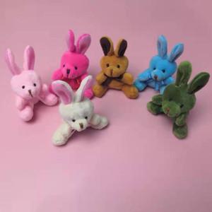 Paskalya Tavşan kolye Oyuncak Bebekler Peluş Mini Tavşan Anahtarlık Çanta Doll Doldurulmuş Twisted Yumurta Makinesi Karikatür Hayvan Moda Mini Oyuncak Hediye WY522Q