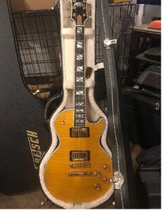 Custom Shop 1959 R9 VOS Honey Sunburst Supre Electric Guitar Tiger Flame Maple Top & Back, Split Block MOP Inlay, Globe Headstock Inlay