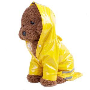 Brasão cães macio respirável malha Roupas Pet Reflective filhote de cachorro Chuva Pet Cat Dog Raincoat com capuz jaqueta impermeável Pet Products