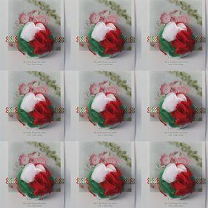 30pcs Dia Multilayer Chiffon Headband Flores Acessórios de cabelo para meninas 10 centímetros 24 pétalas de Natal, Chiffon Flower Headbands para Bebés