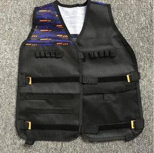 Táctico del chaleco niños Kit para Nerf Guns N-Strike Elite Series Negro