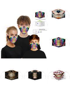 Cadılar Bayramı Partisi Kafatası Maskeler Sihirli Palyaço Bisiklet Kayak Spor Yarım Yüz Çoklu Kullanım Boyun Güneş kremi Ağız Yüz Maskeleri Parti Maskeler Maske