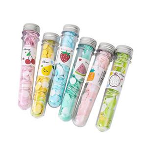 Petali di sapone portatili Sapone Pezzo Tubo Fiore per i viaggi Sapone profumato Colore casuale Accessori essenziali deodorante F3113