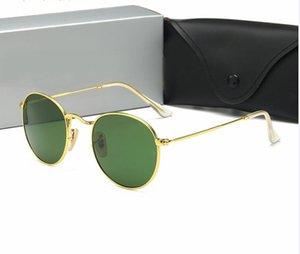 Ins Hot Marca Designer metal dos óculos de sol das mulheres dos homens Moda Óculos Retro Vintage Sun óculos Eyewear Shades Oculos com casos e caixa de 01 gratuitos