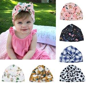 قبعات Telotuny Caps Baby Hat Newborn Photography Baby Girl Sun Hat Floral Bowknot Cap Toder Turban Photo Props