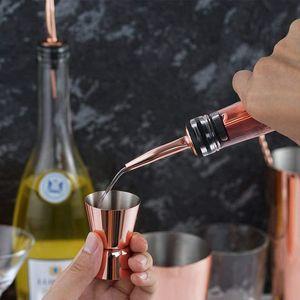 15 / 30ML الفولاذ المقاوم للصدأ كوكتيل شاكر قياس الروح كأس المزدوج أطلق عليه الرصاص صلاة مقياس الوالج النبيذ المدفق نادل بار مطبخ أداة VT1673