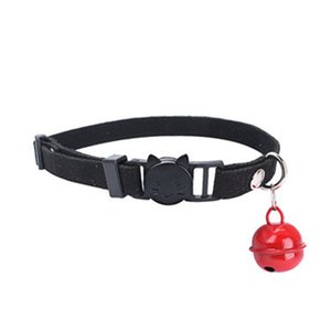 5 Colors Safety Buckle Adjustable Cat Collar With Bell Kitten Small Dogs Cats Printing Collars Pet Supplies-