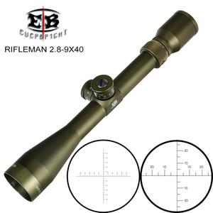 EB FUCILIERE 2.8-9X40 FFP caccia Riflescopes Prima Focal Plane Ambito vetro acidato reticolo Torrette di blocco reset Tactical Optical
