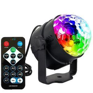 Edison2011 Mini Rgb 3w Kristall Magic Ball führte Bühne Lampe Dj Ktv Disco-Laserlicht Partei beleuchtet Ton IR-Fernbedienung Weihnachtsprojektor