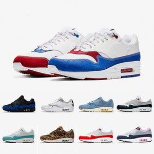 Scarpe da corsa economiche Atmos Work Blue 1s Uomo donna 87s Scarpe da ginnastica OG Anniversary Parra Animal Pack Leopard Sports Designer Sneakers 36-45