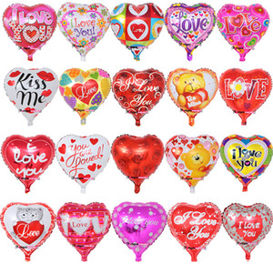 18 Inch inflatable Valentine's Day party ballons decorations bubble Aluminum film balloon I Love You Heart balloons toys supplies C5877