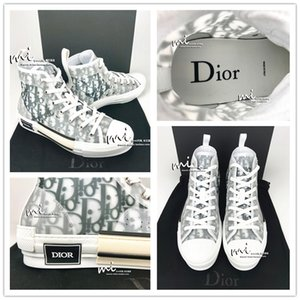 Dior Homme oblíqua X KAWS por Kim Jones Homens Mulheres Fashion Design Triple S Sapatos casuais de alta-top Skate Sapatos