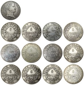France 5 Francs 1812A-W 12pcs Different Mintmark For Chose Silver Plated Copy Coins