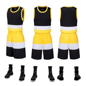 Hot Selling Blank Contrast color Basketball Jersey Suit Customization Basketball Team Uniform Customization Basketball Training Set Competit