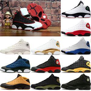 Air jordan retro 13 13s mens scarpe da basket nero rosso bianco He Got Game Puro Soldi Chicago Bred DMP Olive Black Cat Uomo top Chicago oliva sneakers