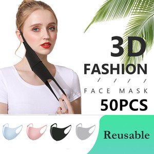 Sponge Mask Anti Dust Face Mask PM2.5 Respirator Mask Reusable Black Unisex Waterproof Fashion V-face Mouth Face Masks