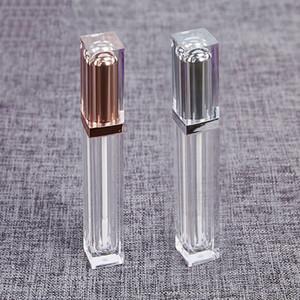 8 мл блеск для губ трубки контейнеры ясно мини многоразового использования бальзам для губ бутылки с губной щеткой золото / серебро Крышка для DIY губ образец путешествия Сплит зарядки