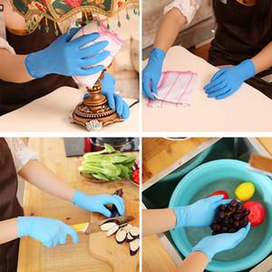 500pcs Black Disposable Gloves Latex Dishwashing Kitchen Work Rubber Garden Gloves Universal Hands Multifunctional Home Tools Drop Ship