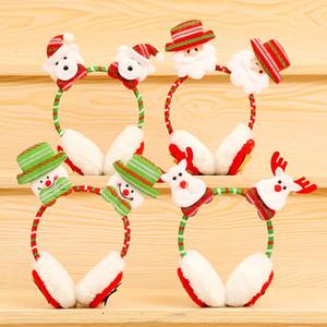 عيد الميلاد يفشل الأذن سانتا كلوز الأيائل الدب الأذن حامي شتاء جديد شتاء دافئ غطاء للأذنين الكبار الاطفال عيد الميلاد غطاء للأذنين