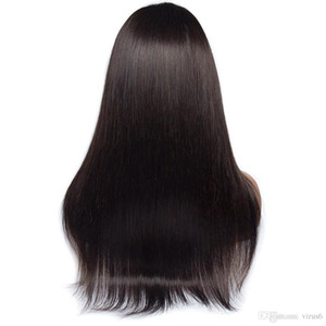 """Бесклеевой человеческих волос парики прямые парик шнурка для чернокожих женщин 4x4 закрытие парик 24 """" бразильский Реми парики волос"""