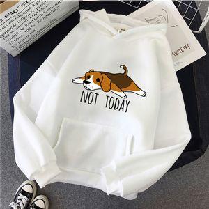 Kawaii Funny Hoodies Women Beagle Tricks Womens Clothing Camisetas Animal Print Dabbing Beagle Dog Long Sleeves Pullovers