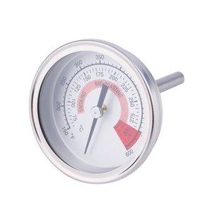 الفولاذ المقاوم للصدأ الشواء BBQ حفرة مدخن الشواية ميزان الحرارة مقياس جديد