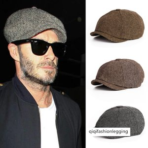 Beret male British sky Street newsboy hat male fashion octagonal hat female casual cap