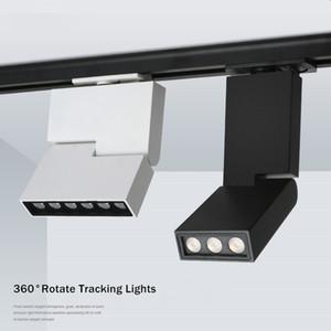 6W 12W LED Parça Işık Spot Işık Tavan Monteli Tramvay Hattı Lambası Dekoratif Led spot Shop Track Aydınlatma