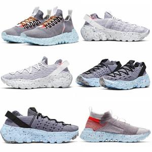 2020 Nuovo elencato 01 02 04 Spazio Hippie uomini donne scarpe bianco grigio-grigio-giallo CQ3989-002 CD3476-001 -100 CQ3986-001 dimensioni 36-45 in esecuzione