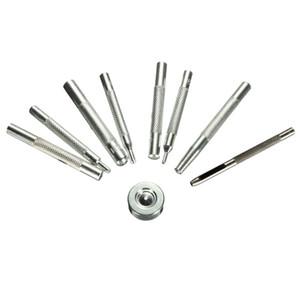 Kit de herramientas de fijación de 9 piezas Costura de cuero Craft Snap Button Fastener Press Stud Base