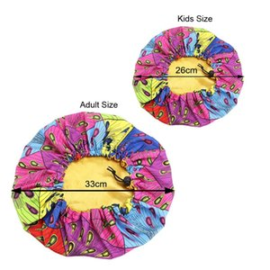 2 Pcs set Bonnet Me Mommy Satin And And Layer Kids African Cap Parents Double Adjustable Sleep Print Turban Hair Cover Baby Hat Qhtmw