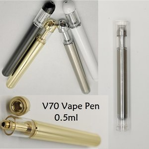 2020 New V70 Disposable Vape Pen 0.5ml starter Kits 2.0mm Thick Oil Hole 510 Thread Ceramic Cartridge 350mah Battery Vaporizer Tank