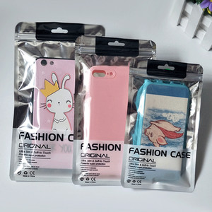 Para Iphone 11 pro XS MAX XR X 8 7 6S caso varejo caixa de saco de pacote para Samsung S10 S9 S8 nota 8 9 10 mais caso de telefone celular de empacotamento universal
