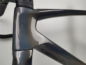 2020 NUOVO carbonio struttura della bici strada SWV-01 sagan colore specchio di frame bicicletta carbonio Freno a disco 700C perno passante 100 * 12 142 * 12mm