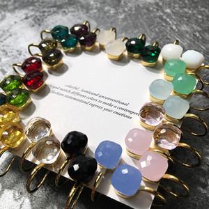 Marchio di lusso italiano Pome gioielli orecchini per le donne Nudo, colore Bing Crysta Lwater goccioline stile orecchini per le donne Accessori C19041101