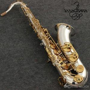 New Tenor Saxophone Yanagisawa LOGO T-9930 Musical Instruments Bb Tone Nickel Silver Plated Tube Gold Key tenor Sax With Case Mouthpiece