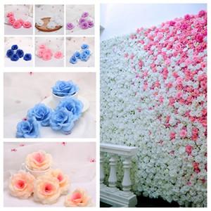 19style caliente 8cm rosas artificiales cabezas de flores de tela decorativa Flores Flores boda del ramo de las piezas centrales de bricolaje PartywareT2I5594