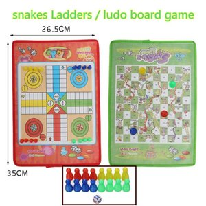 Kids Classic Flight Chess Game Ludo Chess Game Family Party Children Toys Educational Toys For Kids Fun Gifts Party Favors