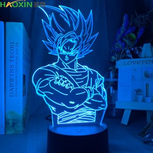 Haoxin Dragon Ball Lamp Goku Abbildung Kind Schlafzimmer-Dekor-Nacht Cool Kinder Geburtstags-Geschenk Anime Gadget Led-Nachtlicht 3D-Illusion