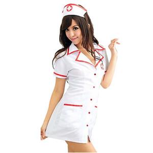 새로운 포르노 여자 섹시한 간호사 의상 Nightdress 섹시한 란제리 핫 역할 재생 핫 에로틱 란제리 코스프레의 Lenceria 섹시한 속옷